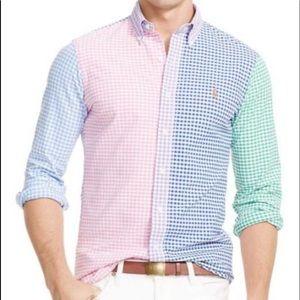 Gingham matching shirts